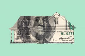 Photo illustration to accompany article on cash-out refinancing