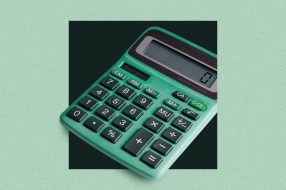 Image of a calculator to accompany a loan calculator