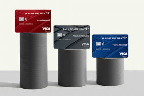 A photo to accompany a story about Bank of America credit cards