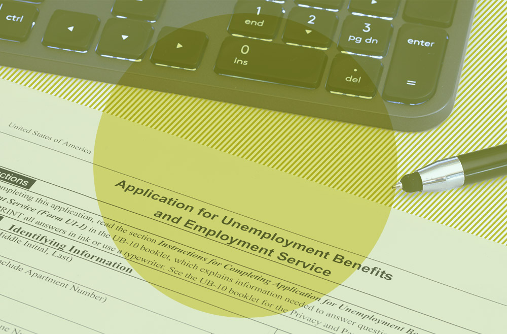 Photo illustration to accompany article on how to apply for unemployment benefits
