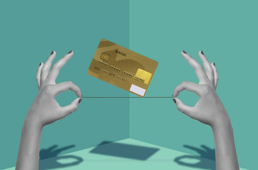 Photo illustration to accompany article on understanding credit types