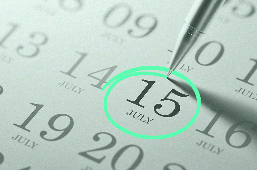 Photo illustration to go with story on extended tax filing deadline on July 15
