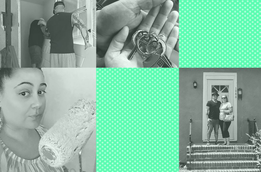 Photo collage to accompany article on the costs of homeownership
