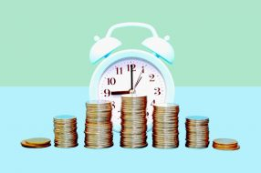 Photo illustration to accompany article on bonds and CDs