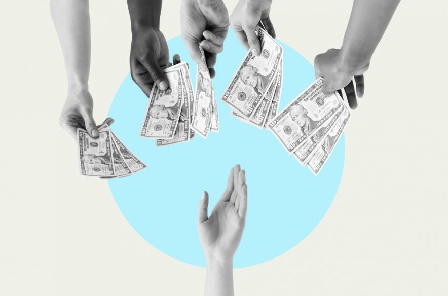 Photo illustration to accompany article on small personal loans