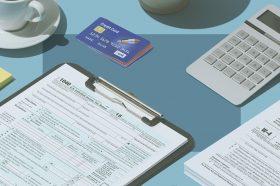 Photo to accompany story about can you pay taxes with a credit card.