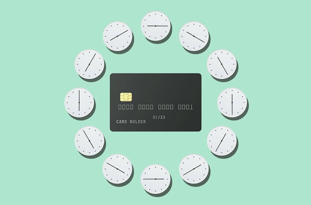 Image to accompany article on paying off your credit card before the billing period ends