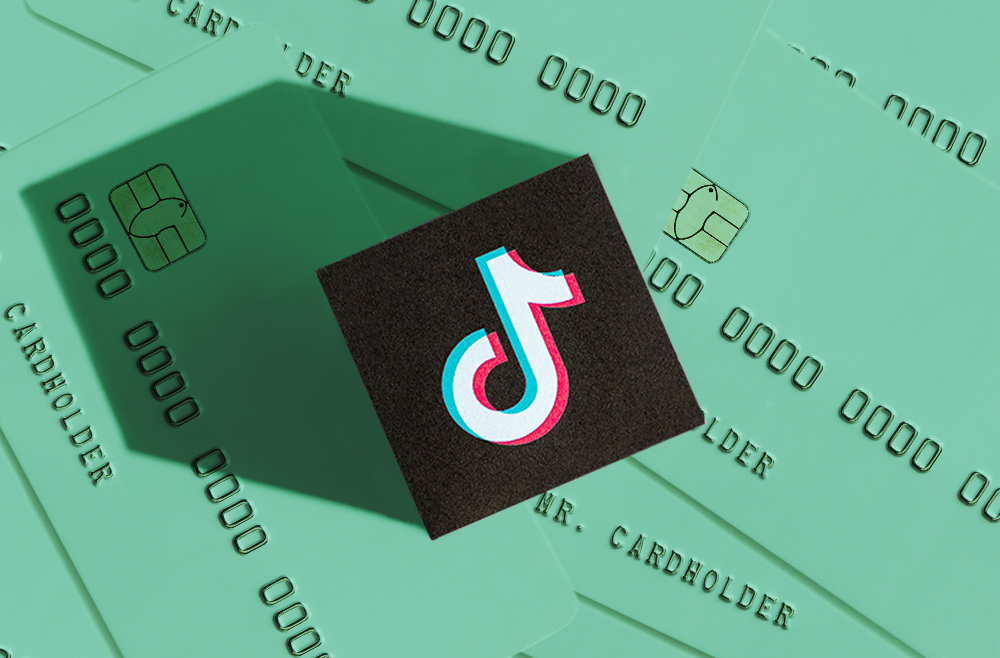 A photo to accompany a story about TikTok credit card advice