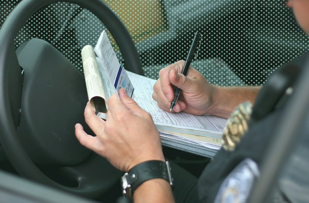 A photo to accompany a story about the difference between a citation and a ticket