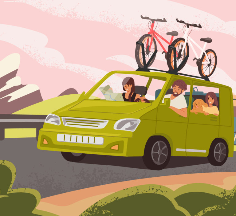 car with bikes on top
