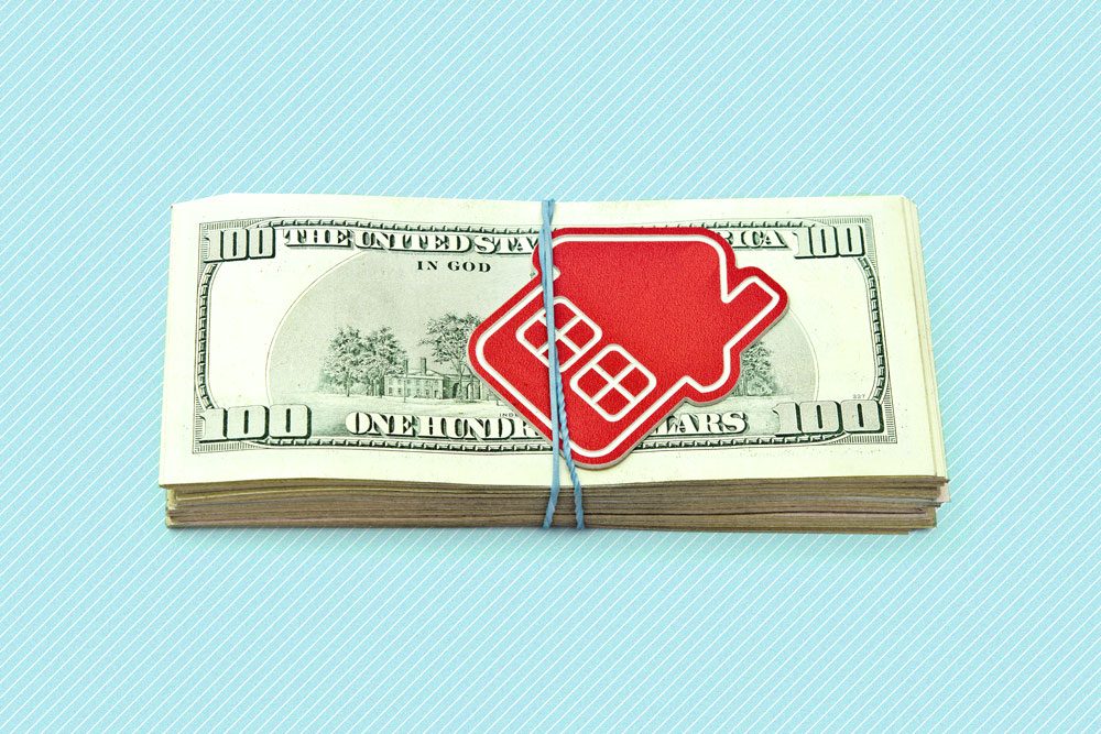 Photo illustration to accompany article on down payments
