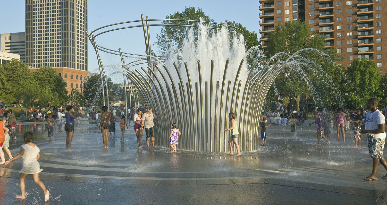 Photo showing a fountain in Columbus, Ohio