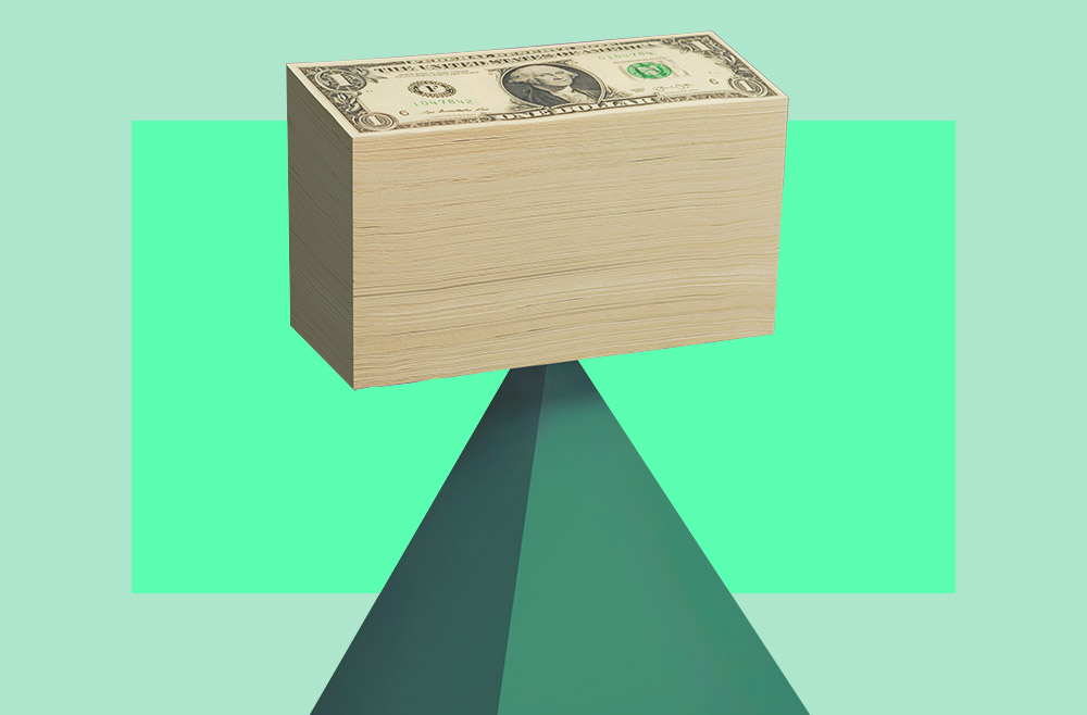 Photo illustration to accompany article on how to budget
