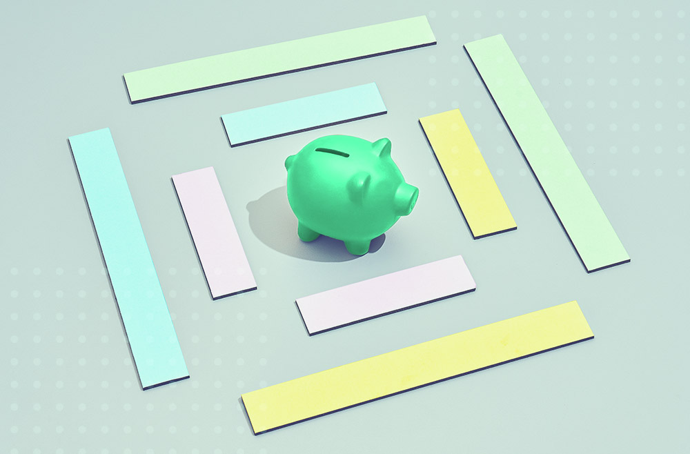 Photo illustration to accompany article on where to get a personal loan