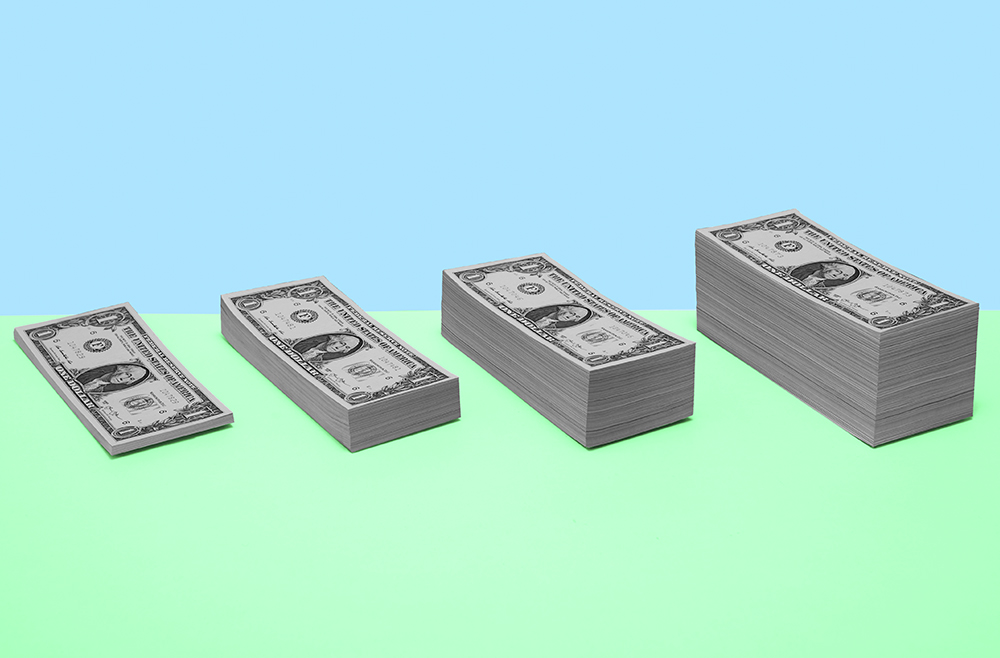 Photo illustration to accompany article comparing CDs and savings accounts