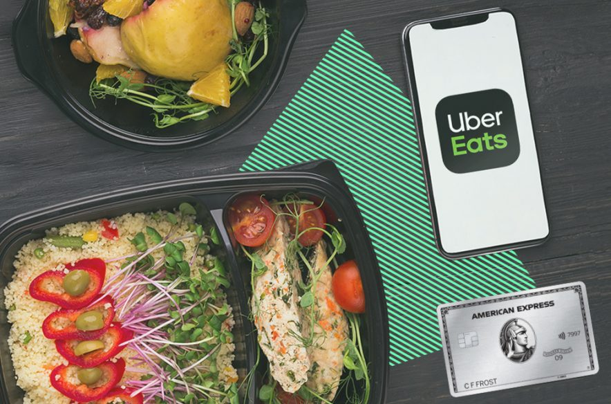 Image to accompany article on Amex perks to save on food delivery