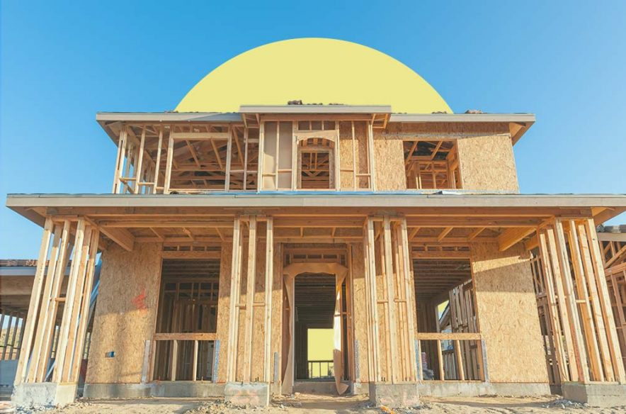 Image to accompany article on home construction loans