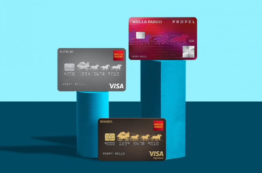 A photo to accompany a story about Wells Fargo credit cards