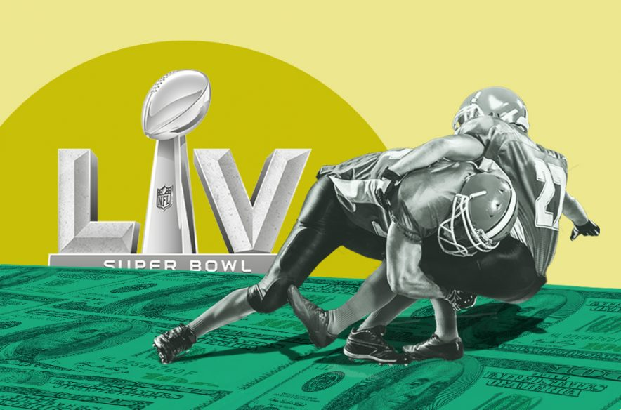 A photo to accompany a story about Super Bowl betting