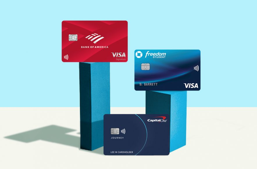 A photo to accompany a story about the best student credit cards