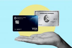 A photo to accompany a story about the Chase Sapphire Reserve and Amex Platinum credit cards